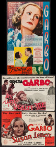 """Movie Posters:Romance, The Painted Veil & Others Lot (MGM, 1934). Heralds (3) (5.5"""" X 8.5"""" & 6.75"""" X 11.75""""). Romance.. ... (Total: 3 Items)"""