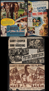 """A Star is Born & Others Lot (United Artists, 1937). Heralds (10) (4.5"""" X 5.75"""" - 9"""" X 12"""")..."""