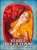 """Movie Posters:Foreign, And God Created Woman (Cocinor, R-1964). Full-Bleed French Grande (46"""" X 62.25""""). Foreign.. ..."""