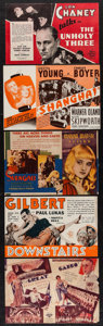"Movie Posters:Crime, The Unholy Three & Others Lot (MGM, 1930). Heralds (5) (8.75"" X5.75""- 9"" X 6""). Crime.. ... (Total: 5 Items)"