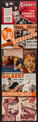 """The Unholy Three & Others Lot (MGM, 1930). Heralds (5) (8.75"""" X 5.75""""- 9"""" X 6""""). Crime..."""