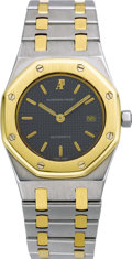 "Timepieces:Wristwatch, Audemars Piguet Men's Gold, Stainless Steel ""Royal Oak"" Wristwatch,modern. Case: 30 mm, stainless steel case with 18k yel... (Total: 1Item)"