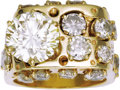 Estate Jewelry:Rings, Gentleman's Diamond, Gold Ring. The ring features a roundbrilliant-cut diamond measuring 10.95 - 10.89 x 6.70 mm and weig...(Total: 1 Item)