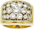 Estate Jewelry:Rings, Gentleman's Diamond, Gold Ring. The ring features a roundbrilliant-cut diamond measuring 6.33 - 6.30 x 3.70 mm and weighi...(Total: 1 Item)