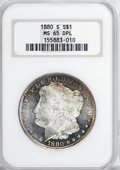 1880-S $1 MS65 Deep Mirror Prooflike NGC....(PCGS# 97119)