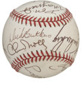 Autographs:Baseballs, Former NFL Greats Multi-Signed Baseball. Twelve former stars of theNFL have checked in for this tremendous theme-signed or...