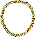 Estate Jewelry:Necklaces, Gold Necklace. The necklace features fancy 18k yellow gold links,completed by a box clasp. Made in Italy. Gross weight 77... (Total:1 Item)