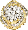 Estate Jewelry:Rings, Diamond, Platinum, Gold Ring. The cocktail ring features full-cut diamonds weighing a total of approximately 2.25 carats, ... (Total: 1 Item)