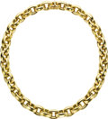 Estate Jewelry:Necklaces, Gold Necklace. The 18k yellow gold necklace features alternating satin and high polished finished links. Gross weight 102.... (Total: 1 Item)