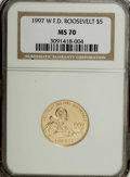 Modern Issues, 1997-W G$5 Franklin D. Roosevelt Gold Five Dollar MS70 NGC....