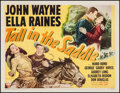 "Movie Posters:Western, Tall in the Saddle (RKO, 1944). Half Sheet (22"" X 28"") Style A. Western.. ..."