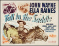"Movie Posters:Western, Tall in the Saddle (RKO, 1944). Half Sheet (22"" X 28"") Style B. Western.. ..."