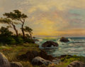 Fine Art - Painting, American, Robert William Wood (American, 1889-1979). Point Lobos,Carmel. Oil on canvas. 28-1/2 x 36 inches (72.4 x 91.4 cm).Sign...