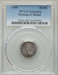 "Early Half Dimes: , 1800 H10C -- Damage -- PCGS Genuine. Good Details. EX: ""E.B.Strickland Collection"". NGC Census: (0/138). PCGS Population: ..."