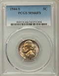 Jefferson Nickels, 1944-S 5C MS66 Full Steps PCGS. PCGS Population: (183/48). NGC Census: (45/10). CDN: $350 Whsle. Bid for problem-free NGC/P...