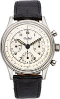 Timepieces:Wristwatch, Gallet & Co. Fine Stainless Steel Chronograph Valjoux 72, circa 1950's. ...