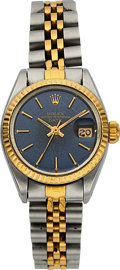 Timepieces:Wristwatch, Rolex Lady's Two Tone Oyster Perpetual Date. ...