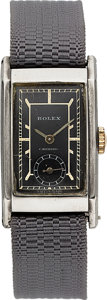 Timepieces:Wristwatch, Rolex Ref. 1879 Early Steel Wristwatch. ...