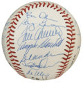 Autographs:Baseballs, 1989 New York Mets Old Timers Day Multi-Signed Baseball. This cleanONL (Giamatti) baseball includes the signatures of 24 N...