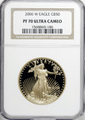 Modern Bullion Coins, 2006-W G$50 One-Ounce Gold PR70 Ultra Cameo NGC....