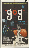 "Movie Posters:Science Fiction, Gog (United Artists, 1954). One Sheet (27"" X 41""). Science Fiction...."