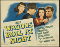 """Movie Posters:Drama, The Wagons Roll at Night (Warner Brothers, 1941). Title Lobby Card (11"""" X 14""""). Drama...."""