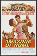 "Movie Posters:Adventure, Amazons of Rome (United Artists, 1963). One Sheet (27"" X 41"").Adventure...."