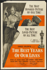 """The Best Years of Our Lives Lot (RKO, R-1954). Lobby Card Set of 8 (11"""" X 14"""") and One Sheet (27"""" X 41&qu..."""
