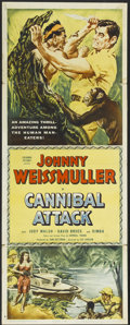 "Movie Posters:Adventure, Cannibal Attack (Columbia, 1954). Insert (14"" X 36""). Adventure...."