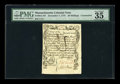 Colonial Notes:Massachusetts, Massachusetts December 7, 1775 36s Contemporary Counterfeit PMGChoice Very Fine 35....