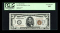 Small Size:World War II Emergency Notes, Fr. 2301 $5 1934 Non-Mule Hawaii Federal Reserve Note. PCGS VeryChoice New 64.. ...