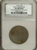 1723 2PENCE Rosa Americana Twopence--Environmental Damage--NCS. VG Details. NGC Census: (0/0). PCGS Population (0/106)...