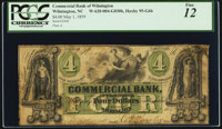 Wilmington, NC- Commercial Bank of Wilmington $4 May 1, 1859 G6b