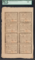 Colonial Notes:Rhode Island, Rhode Island July 2, 1780 Half Sheet - $1, $2, $3, $4, $5, $7, $8,$20 PCGS Very Choice New 64.. ...