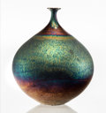 Ceramics & Porcelain, American:Modern  (1900 1949)  , Hideaki Miyamura (Japanese/American, b. 1955). Bottle with BlueHare's Fur Glaze. Glazed porcelain. 9 inches high (22.9 ...