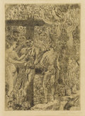 Prints:European Modern, JAMES ENSOR (Belgian 1860-1949). La reine Parysatis, 1900.Etching. 6-3/4 x 4-3/4 inches (17.1 x 12.1 cm). Signed and da...