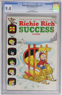 Richie Rich Success Stories #37 File Copy (Harvey, 1971) CGC NM 9.4 Off-white to white pages