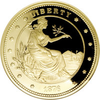 """Private """"1876 $100 Gold Union"""" Ultra Cameo Gem Proof NGC....(PCGS# 62401)"""