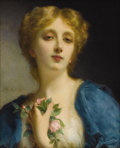 Paintings, ETIENNE ADOLPH PIOT (French 1850-1910). The Secret Admirer. Oil on canvas. 18 x 15 inches (45.7 x 38.1 cm). Signed middl...