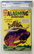 Silver Age (1956-1969):Science Fiction, Alarming Adventures #1 File Copy (Harvey, 1962) CGC NM 9.4 Cream to off-white pages....