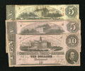Confederate Notes:1862 Issues, A Trio of CSA Issues;. ... (Total: 3 notes)