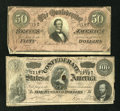 Confederate Notes:Group Lots, Confederates Pickens and Davis.. ... (Total: 2 notes)