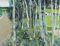 Fine Art - Painting, American:Contemporary   (1950 to present)  , ROBERT AARON FRAME (American 1924-1999). Summer Landscape withBirches. Oil on original unlined canvas. 27 x 36 inch...