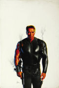 Illustration:Advertising, MORGAN WEISTLING (American 20th Century) . Arnold Schwarzeneggarin True Lies, movie poster comprehensive . Oil on board...(Total: 1 Item)