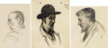 Fine Art - Painting, American, GUY PÈNE DU BOIS (American 1884-1958). Group of Three Drawings. Various Dimensions. ... (Total: 3 Items)