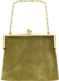 Estate Jewelry:Purses, Sapphire, Gold Purse. Designed in 14k yellow gold, the framefeatures sapphire cabochon terminals. Gross weight 133.30 gra...(Total: 1 Item)