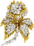 Estate Jewelry:Brooches - Pins, Diamond, Gold Brooch, Kurt Wayne. ...