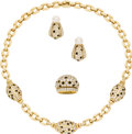 Estate Jewelry:Coin Jewelry and Suites, Diamond, Black Onyx, Gold Jewelry Suite, Cartier. The suiteincludes: one necklace featuring full-cut diamonds, enhanced b...(Total: 1 Item)