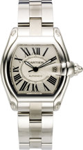 "Timepieces:Wristwatch, Cartier Men's Stainless Steel ""Roadster"" Automatic BraceletWristwatch, modern. Case: 43 x 38 mm, polished stainless steel...(Total: 1 Item)"