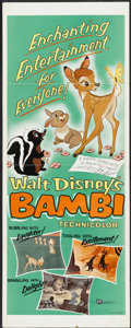 "Movie Posters:Animated, Bambi (Buena Vista, R-1957). Insert (14"" X 36""). Animated...."